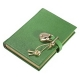 Green DIARY (Small) with HEART LOCK in Green Brights Goatskin leather by Graphic Image�