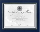 Leatherette Navy-Blue 11x8� document style by DAX�