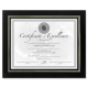 Leatherette Black 11x8� document style by DAX�