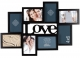 Black 3-D Love Cut-out Collage Frame with 8-Openings by Gallery Solutions�