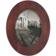 WALNUT-BROWN OVAL wood 5x7 frame by Malden�