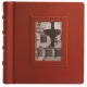 The FONTANA Scrapbook Album Red Fine-Leather 10x10 - Made in Italy - by Eccolo�