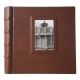 The FONTANA Scrapbook Album Brown Fine-Leather 10x10 - Made in Italy - by Eccolo�