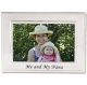 Lawrence Frames� ME AND MY NANA Brushed Silver 6x4 frame