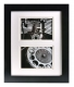 Black Wood Wall Frame 11x14 matted for two 5x7 prints by Gallery Solutions�