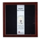 Expresso-Brown 8x8 Shadowbox 1�in depth frame by Lawrence�