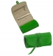 BRIGHTS GREEN Fine Leather Jewel Roll by Graphic Image�