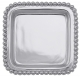 The original BEADED SQUARE TRAY crafted by Mariposa� - Engraveable!