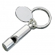 Chrome plate Whistle Keychain - ENGRAVEABLE