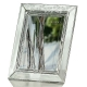 SHAMROCK Crystal frame by Galway� for Belleek� of Ireland