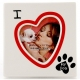 I HEART MY DOG picture frame by Our Name is Mud�