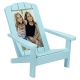 ADIRONDACK CHAIR Turquoise 4x6 frame in natural wood by Malden�