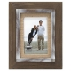 CEDAR WOOD Frame with 4x6 Burlap mat by Malden�