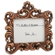 Baroque design placecard photo frame in copper color