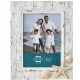 SAND PIPER Resin Frame in Natural White w/Seashells and Starfish Accents