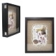 Black 11x14 2-in Depth Shadowbox w/magnetic lock front opening by Lawrence�