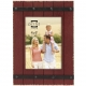 COOPER Distressed Red Wood Plank 4x6 Frame w/Faux Metal Band by Prinz�