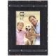 COOPER Distressed Black Wood Plank 5x7 Frame w/Faux Metal Band by Prinz�