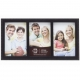 SONOMA Black Patterned Triple 4x6 frame by Prinz�