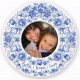 FAITH HOPE LOVE Blue Floral picture frame by Enesco