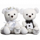 BRIDE & GROOM 9�-inch Plush Toy Bears by Enesco� (set of 2)