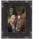 BRODY Distressed Black Wood 5x7 Frame w/Faux Metal Corners by Prinz�