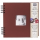 Pampa red leather scrapbook to 8x8 with cover windowby PRAT Paris�