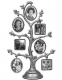 Pewter 14-opening Family Tree by Malden�