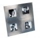 Pop-Art VISTA in cast aluminum by Umbra�