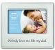 Celebrate DAD in fancy engraved brushed aluminum