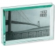 EMERALD bevelled 7x5 glass block floats your photo