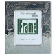 Silverplate Baby Birth-Record Frame