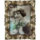 LYDIA white/gold - light colorado - oliivine - tourmaline - topaz jeweled 5x7 frame by Edgar Berebi�