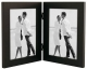 LINEAR Black Hinged Double 5x7 frame by Malden Design�