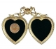 18kt Museum Gold over fine pewter MINI DOUBLE HEART by Elias Artmetal�